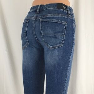 Amer Eagle Sup Stretch Hi-Rise Jegging sz 8 (Exe)